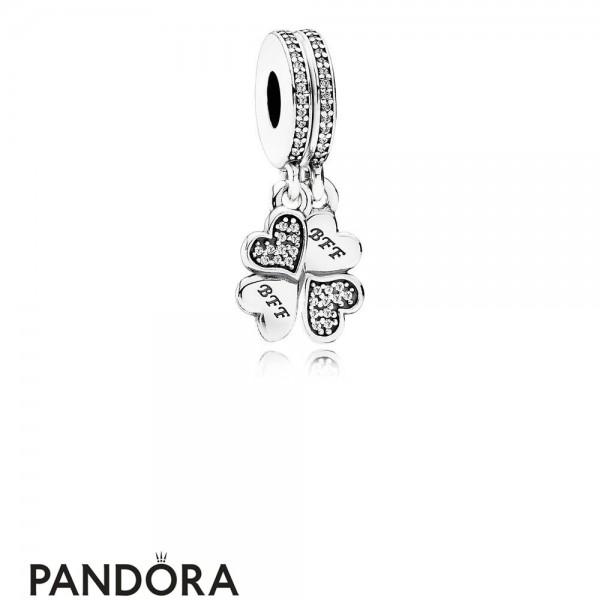 Pandora Pendant Charms Best Friends Forever Pendant Charm Clear Cz