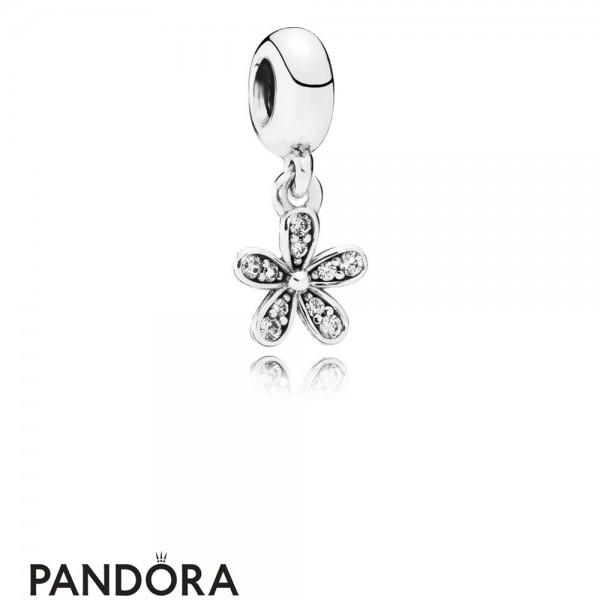 Pandora Pendant Charms Dazzling Daisy Pendant Charm Clear Cz