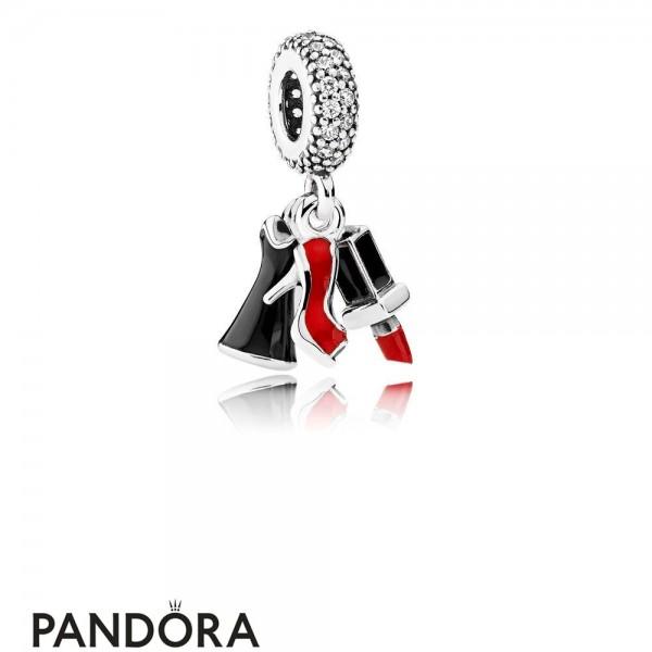 Pandora Pendant Charms Glamour Trio Pendant Charm Mixed Enamel Clear Cz