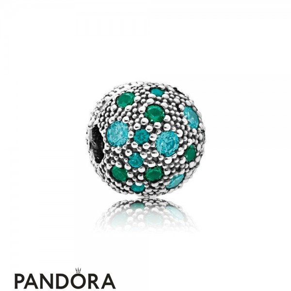 Pandora Sparkling Paves Charms Cosmic Stars Multi Colored Crystals Teal Cz