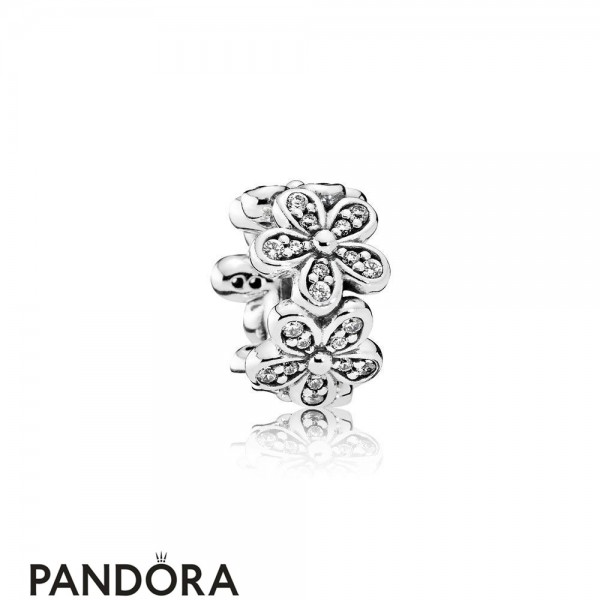 Pandora Sparkling Paves Charms Dazzling Daisies Spacer Clear Cz