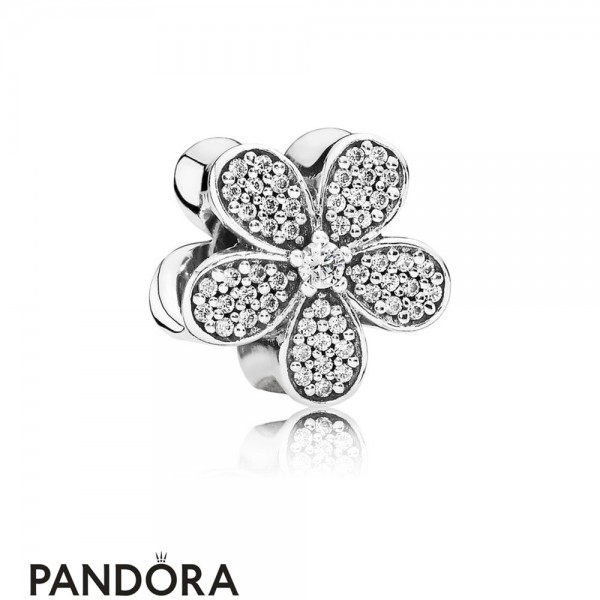 Pandora Sparkling Paves Charms Dazzling Daisy Charm Clear Cz