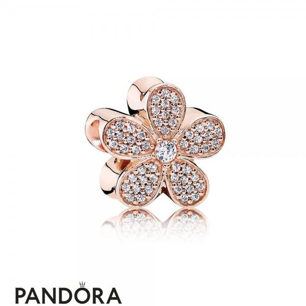 Pandora Sparkling Paves Charms Dazzling Daisy Charm Pandora Rose Clear Cz