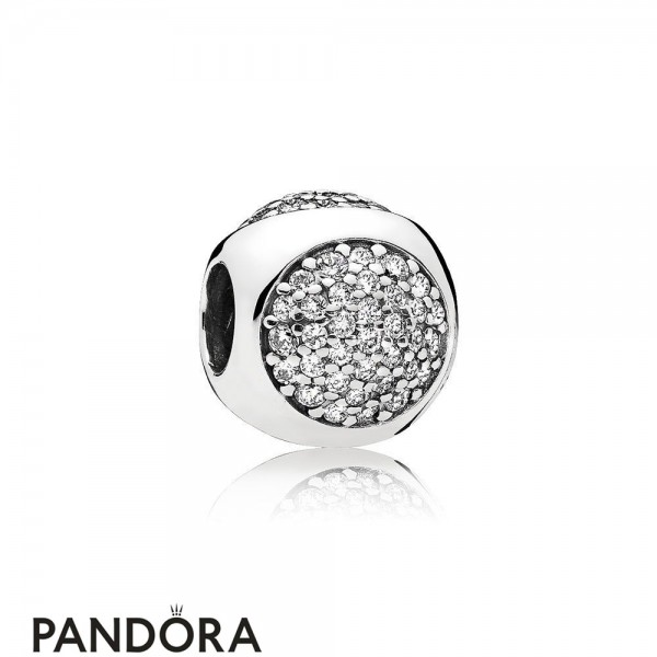 Pandora Sparkling Paves Charms Dazzling Droplet Charm Clear Cz