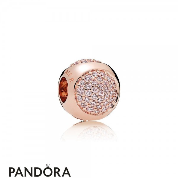 Pandora Sparkling Paves Charms Dazzling Droplet Charm Pandora Rose Pink Cz