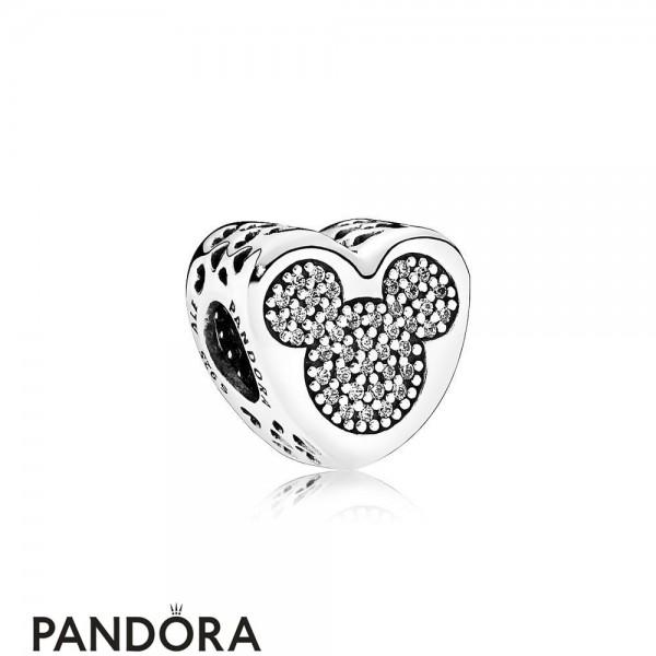 Pandora Sparkling Paves Charms Disney Mickey Minnie True Love