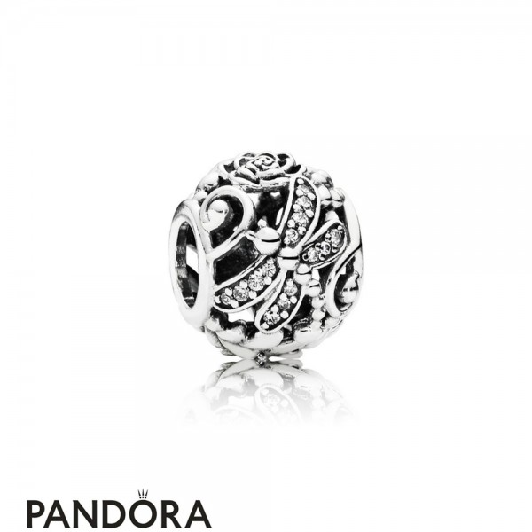 Pandora Sparkling Paves Charms Dragonfly Meadow Charm Clear Cz