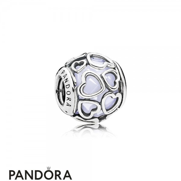 Pandora Sparkling Paves Charms Encased In Love Charm Opalescent White Crystal