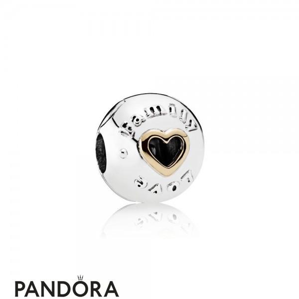 Pandora Sparkling Paves Charms Family Love Clip