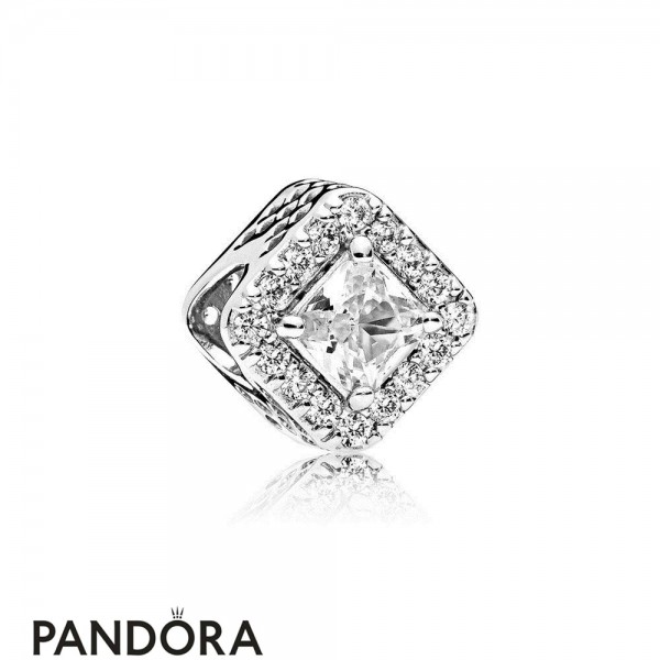 Pandora Sparkling Paves Charms Geometric Radiance Charm Clear Cz