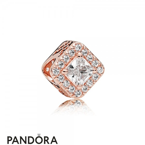 Pandora Sparkling Paves Charms Geometric Radiance Charm Pandora Rose Clear Cz