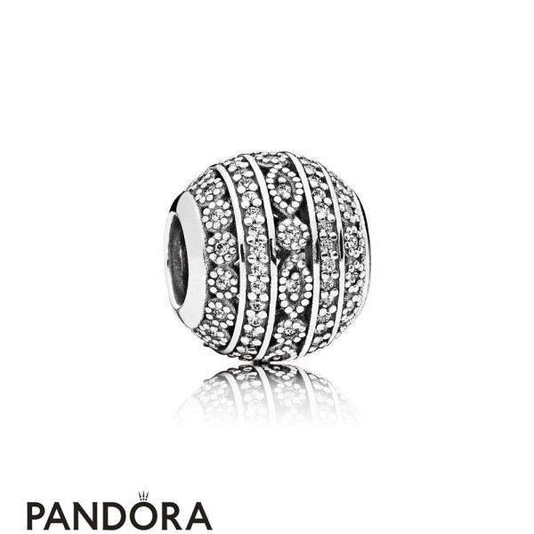 Pandora Sparkling Paves Charms Glittering Shapes Charm Clear Cz
