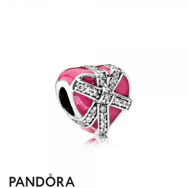 Pandora Symbols Of Love Charms Gifts Of Love Magenta Enamel Clear Cz