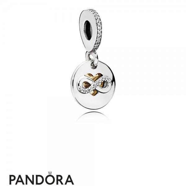 Pandora Symbols Of Love Charms Heart Of Infinity Pendant Charm Clear Cz