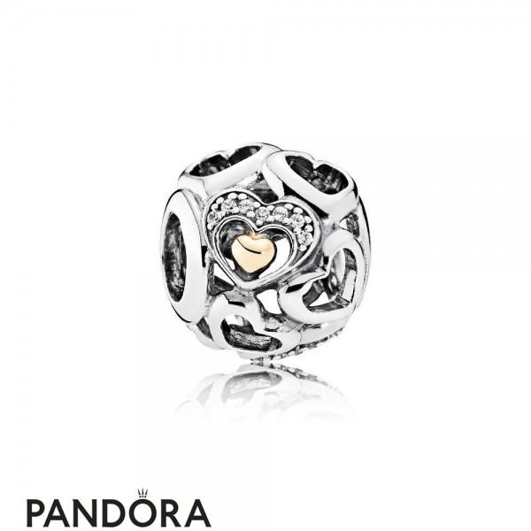 Pandora Symbols Of Love Charms Heart Of Romance Charm Clear Cz