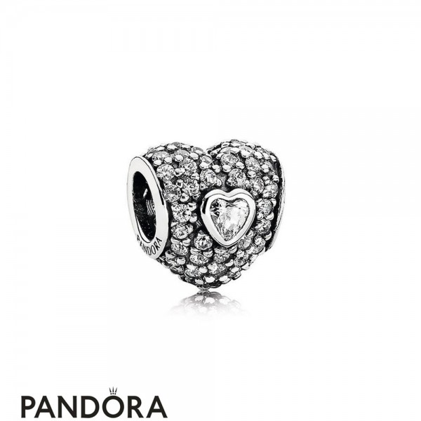 Pandora Symbols Of Love Charms In My Heart Charm Clear Cz