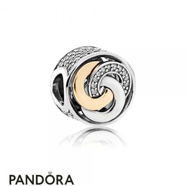 Pandora Symbols Of Love Charms Interlinked Circles Charm Clear Cz