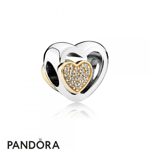 Pandora Symbols Of Love Charms Joined Together Charm Clear Cz