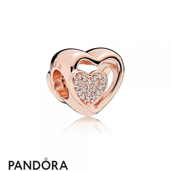 Pandora Symbols Of Love Charms Joined Together Charm Pandora Rose Clear Cz