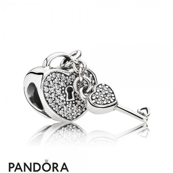 Pandora Symbols Of Love Charms Lock Of Love Charm Clear Cz
