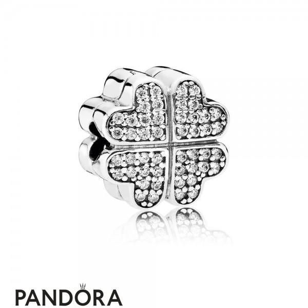Pandora Symbols Of Love Charms Petals Of Love Clear Cz
