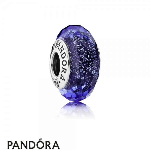 Pandora Touch Of Color Charms Blue Fascinating Iridescence Charm Murano Glass