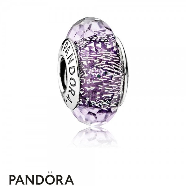 Pandora Touch Of Color Charms Dark Purple Shimmer Charm Murano Glass