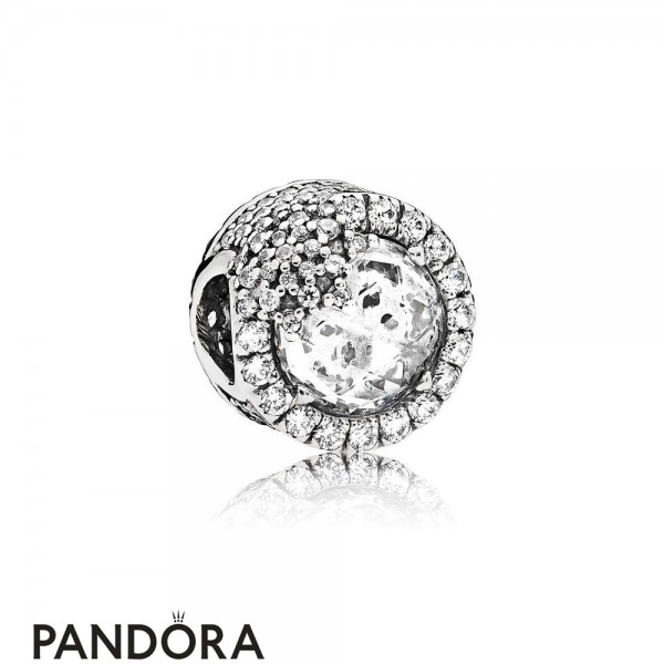 Pandora Touch Of Color Charms Dazzling Snowflake Charm Clear Cz