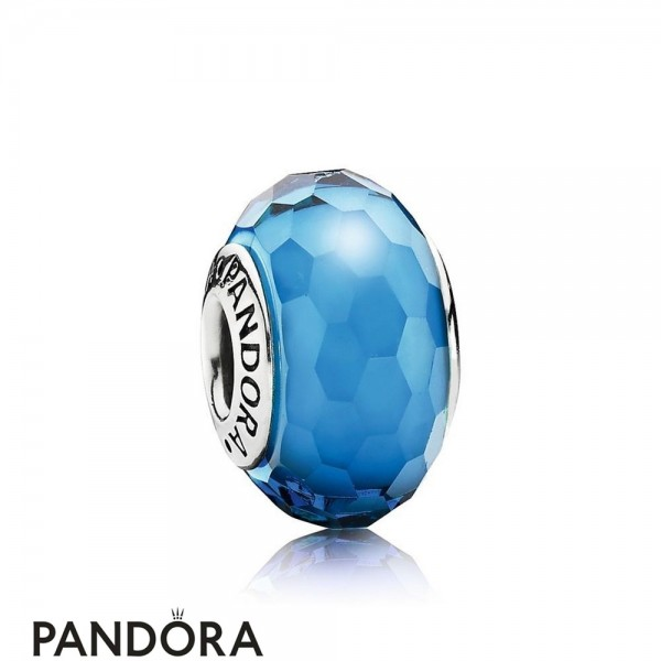 Pandora Touch Of Color Charms Fascinating Aqua Charm Murano Glass