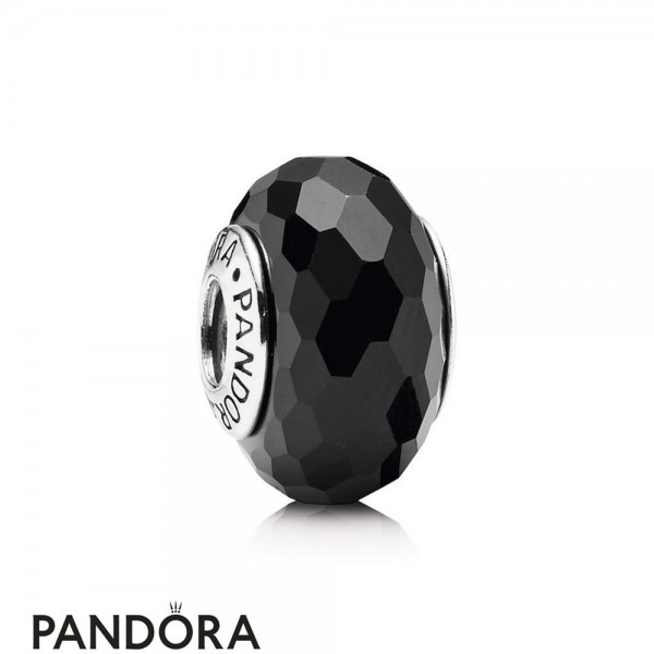 Pandora Touch Of Color Charms Fascinating Black Charm Murano Glass