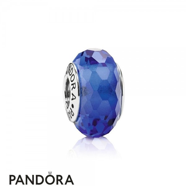 Pandora Touch Of Color Charms Fascinating Blue Charm Murano Glass