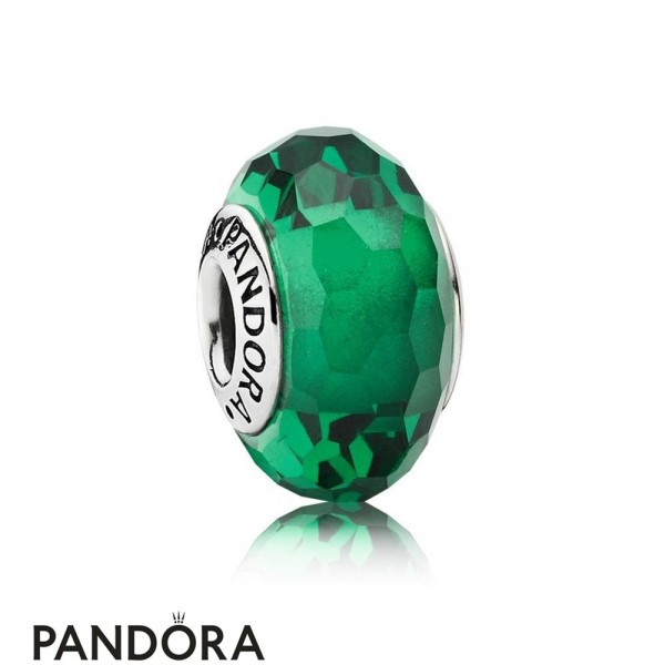 Pandora Touch Of Color Charms Fascinating Green Charm Murano Glass