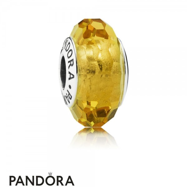 Pandora Touch Of Color Charms Fascinating Ochre Charm Murano Glass