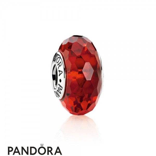 Pandora Touch Of Color Charms Fascinating Red Charm Murano Glass