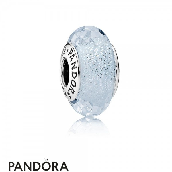 Pandora Touch Of Color Charms Frosty Mint Shimmer Charm Murano Glass