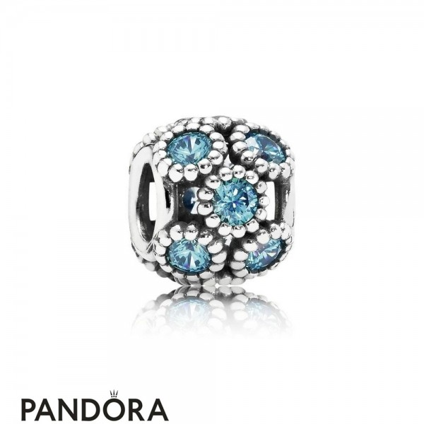 Pandora Touch Of Color Charms Studded Lights Charm Teal Cz