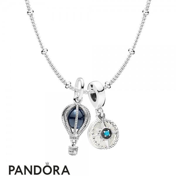 Women's Pandora Adventure Guide Necklace Set