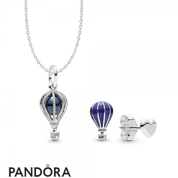 Women's Pandora Air Balloon Necklace And Earring Set