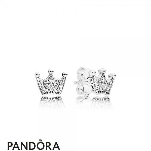 Women's Pandora Enchanted Crown Earring Studs Jewelry