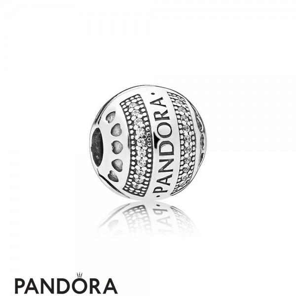 Pandora Logo Hearts Clip