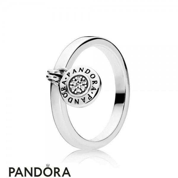 Pandora Logo Padlock Ring