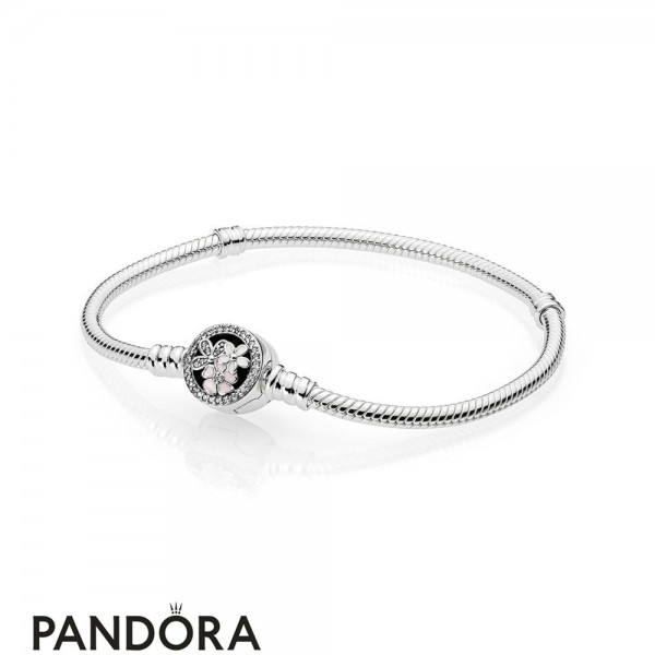 Pandora Moments Bracelet With Poetic Blooms Clasp