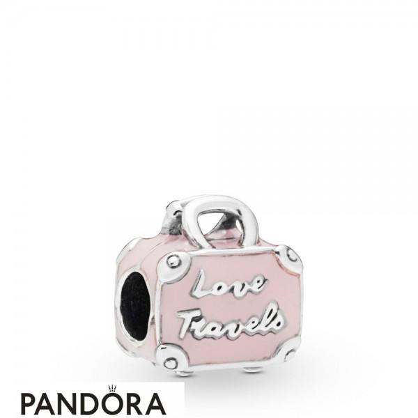 Women's Pandora Pink Travel Bag Charm