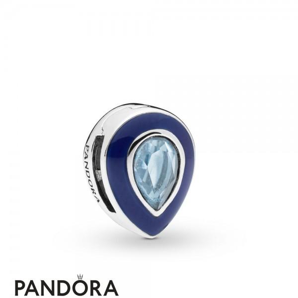 Pandora Reflexions Dazzling Blue Droplet Clip Charm