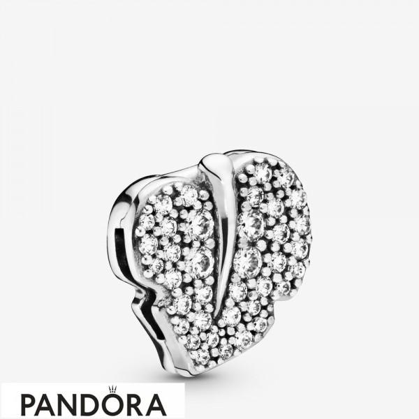 Pandora Reflexions Sparkling Leaf Clip Charm