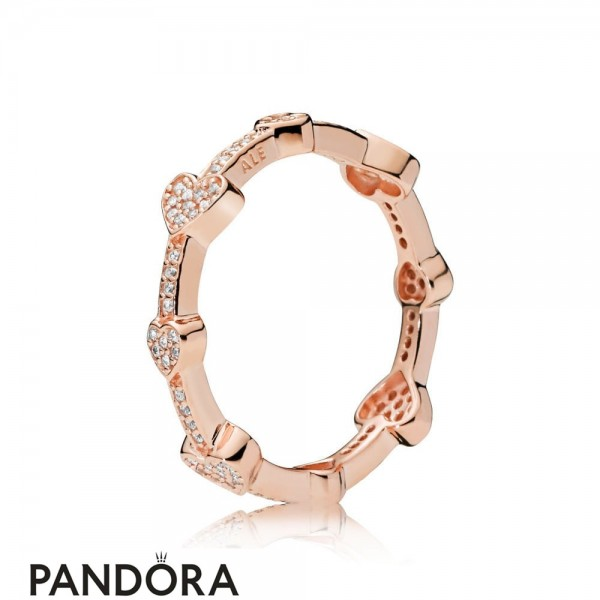 Pandora Rose Alluring Hearts Ring