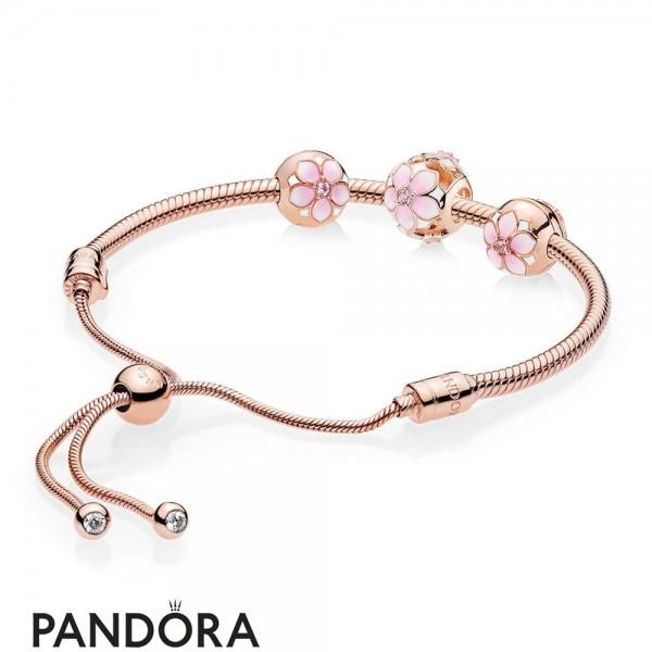 Pandora Rose Magnolia Bracelet Gift Set Jewelry