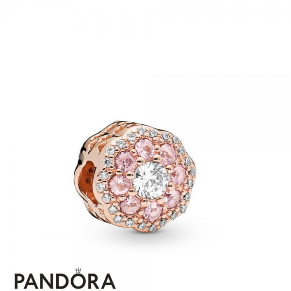 Pandora Rose Pandora Rose Pink Sparkle Flower Charm