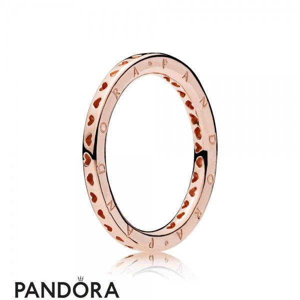 Pandora Rose Signature Hearts Of Pandora Ring
