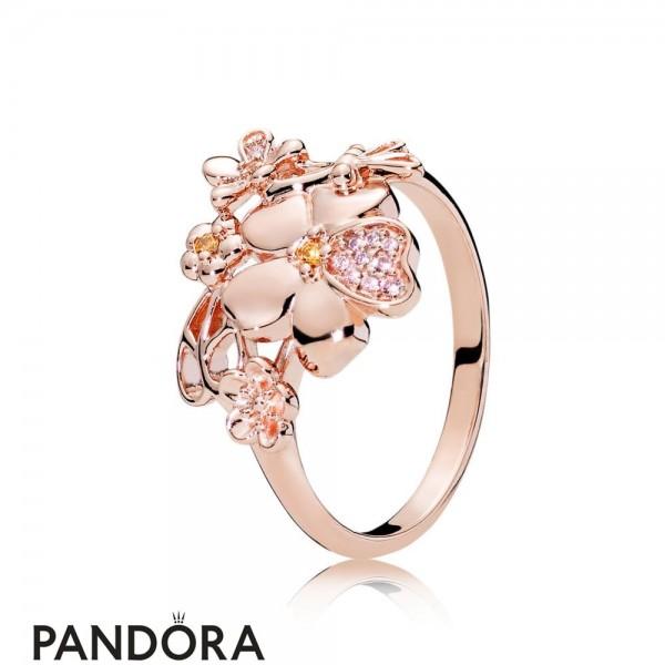 Pandora Rose Wildflower Meadow Ring